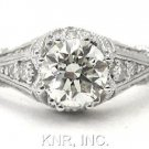 ROUND DIAMOND ENGAGEMENT RING ANTIQUE DECO 1.68CTW
