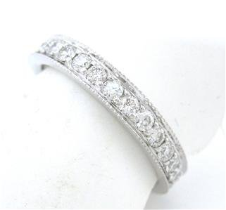 14K WHITE GOLD 1.00CTW  ROUND CUT ETERNITY DIAMONDS BAND ANNIVERSARY
