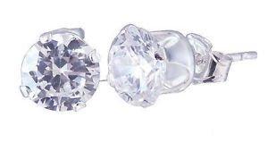 14K WHITE GOLD 0.50CTW ROUND CUT DIAMONDS STUD EARRINGS SCREW BACKS PRONG SET
