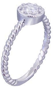 14K White Gold Round Cut Diamond Engagement Ring Braided Prong Set Deco 0.65ctw