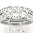 PRINCESS DIAMOND ENGAGEMENT RING & BAND SET 2.00CTW