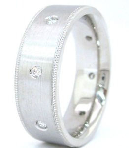 PRINCESS CUT DIAMOND MENS BAND RING ETERNITY 0.40CT 7MM