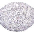 18K White Gold Round Cut Diamond Ring Eternity Style Micro Pave 2.50ctw