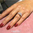 18K WHITE GOLD ROUND CUT DIAMOND ENGAGEMENT RING ANTIQUE STYLE 1.23CTW