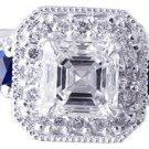 18K WHITE GOLD ASSCHER CUT DIAMOND ENGAGEMENT DECO RING 1.75CTW H-VS2 EGL USA