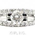 1.73CT ROUND DIAMOND ENGAGEMENT RING DECO SPLIT BAND