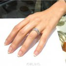 ROUND DIAMOND ENGAGEMENT RING DECO SPLIT BAND 1.71CTW