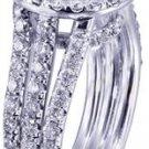 18K WHITE GOLD ROUND CUT DIAMOND ENGAGEMENT RING PRONG SET ART DECO 2.60CTW