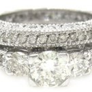 ROUND CUT DIAMOND ENGAGEMENT RING & BAND 2.32CTW