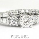 ROUND DIAMOND ENGAGEMENT RING & BAND ANTIQUE 1.91CTW