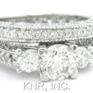 ROUND CUT DIAMOND ENGAGEMENT RING & BAND 2.25CTW