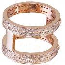 14k Rose Gold Round Cut Diamonds Band Anniversary Art Deco Modern Style 2.00ctw