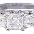 18K WHITE GOLD ASSCHER CUT DIAMOND ENGAGEMENT RING 2.30CTW H-VS2 EGL USA CERT
