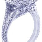 18K WHITE GOLD ROUND DIAMOND ENGAGEMENT RING ANTIQUE DECO 3.00CTTW H-VS2 EGL USA