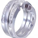 14k white gold princess diamond engagement ring bands tension 1.70ctw G-VS2 EGL