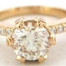18K ROSE GOLD ROUND DIAMONDS ENGAGEMENT RING 18K ROSE GOLD 1.40CT