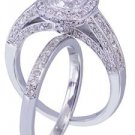 14k white gold cushion cut diamond engagement ring and band 2.00ct H-VS2 EGL USA