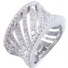 18K WHITE GOLD ROUND CUT DIAMONDS BAND ANNIVERSARY ART DECO MODERN STYLE 1.75CTW