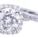 18K WHITE GOLD ROUND DIAMOND ENGAGEMENT RING AND BAND 2.52CTW H-VS2 EGL USA CERT
