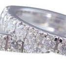 14K WHITE GOLD ROUND CUT DIAMOND ENGAGEMENT RING AND BAND ART DECO 1.46CTW