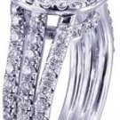 18k White Gold Round Cut Diamond Engagement Ring Prong Set Art Deco Halo 2.60ctw