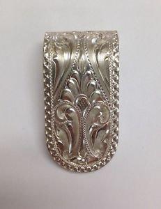 "SILVER KING USA Chatsworth CA Handmade Sterling 925 Small 1 1/2"" x 3/4 MoneyClip"