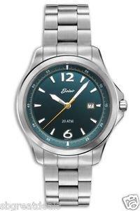 Men's Swiss Quartz Belair Luminous Dial/Hands Fine Watch A9609W/B BLU Diver Sapp