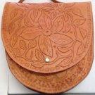 "Western Handmade Wild Flower Tool Designed Leather ] Saddle Bag 11.5"" by 12"" New"