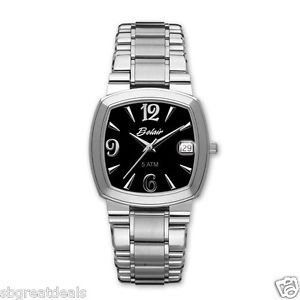 Men's Swiss Quartz Belair Fine Watch Date Sapphire Crystal A4780W BLK 3yr Warran
