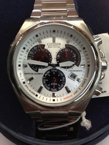 Mens Citizen Eco-Drive BL5410-59A Perpetual Calendar Chrono Silver Dial Watch Ne