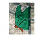 GREEN STAINED GLASS BUTTERFLY HANCRAFTED SUNCATCHER