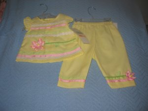 Rare Edition  Boutique  Toddler Yellow Summer 2 Pieces Outfit