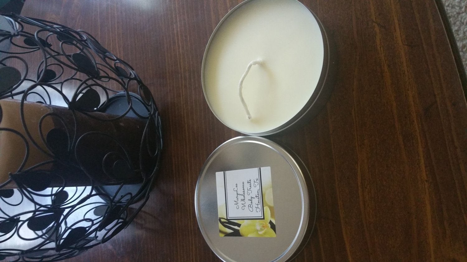 Coconut-Ginger Soy Massage Candle