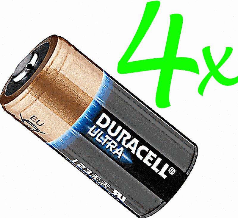 4 x DURACELL LITHIUM 123 CR123A DL123 Ultra Power  Batteries