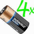 4 x DURACELL LITHIUM 123 CR123A DL123 Ultra Power  Batteries