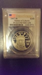 2007-W $100 PLATINUM EAGLE PCGS PR70DCAM FIRST STRIKE MINT RARE