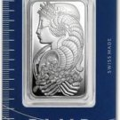 1 Ounce Pamp Suisse Silver Ingot Bar Fortuna Assay .999 New Seale box