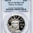 2004-W $100 PLATINUM EAGLE PCGS PR70DCAM RARE MINT