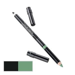 LANCOME COLOR  DESIGN EYE PENCIL DUO SEQUIN GREEN LOT OF 2
