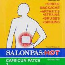 2 Patch of Hisamitsu Salonpas Hot Capsicum Patch 5.12 in x 7.09