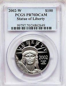 2002-W $100 PLATINUM EAGLE PCGS PR70DCAM