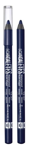 2X RIMMEL LONDON ScandalEyes Waterproof Kohl Kajal Eye Liner DEEP BLUE 006 NEW