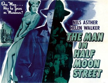 Man in Half Moon Street 1945 rare sci-fi VERY NICE QUALITY