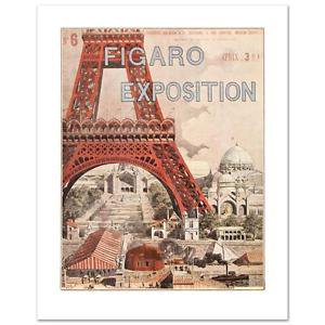 """Figaro Exposition"" Hand Pulled Lithograph by the RE Society Orig. by Grassel"