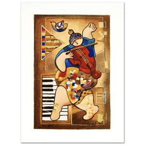 """Dancing on Bars"""" Limited Edition Serigraph by Dorit Levi Signed HC 6/60 NEW"""