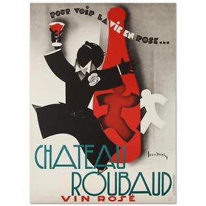 """""""Chateau Roubaud"""" Hand Pulled Lithograph (36.5""""x50"""") by the RE Society"""