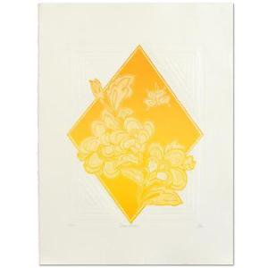 """Hari Hockey - """"Dream Flowers"""" Limited Edition Embossed Lithograph, Signed"""
