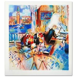 "Venetian Melody"" Limited Edition Serigraph by Michael Rozenvain"