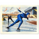 "William Nelson - ""Olympic Skating (Sheila Young)"" Limited Edition Lithograph"
