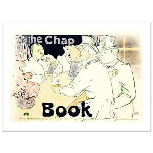 The Chap Book Hand Pulled Lithograph by RE Society Orig byToulouse-Lautrec  NEW